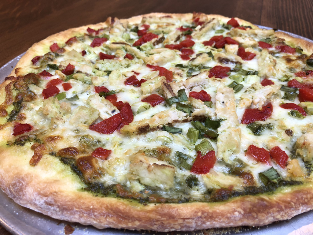 Chicken On The Green Pizza