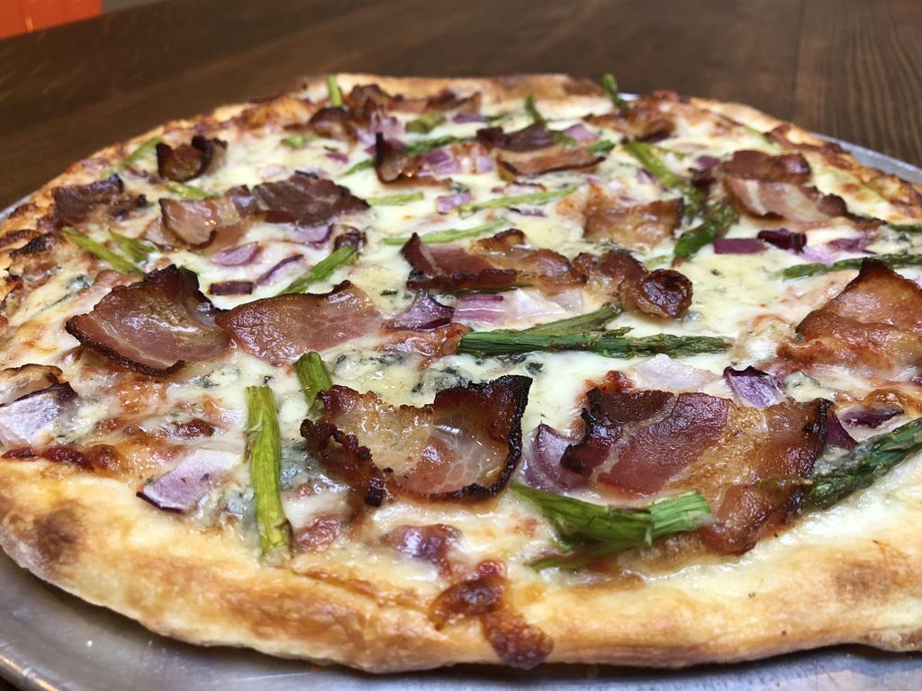 Roasted Asparagus Pizza